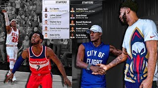 NBA All Star Team Draft vs Anthony Davis • Curry & Lebron Join Forces !?! NBA 2k19 MyCareer #12