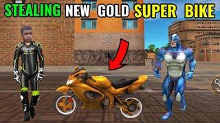 stealing new gold super bike   new update version 6.0.3 in rope hero vice town    classic gamerz