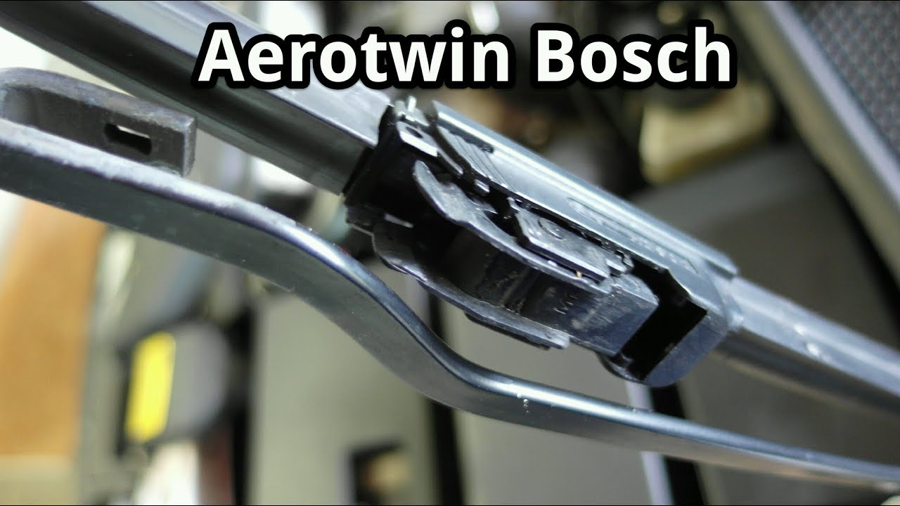 scheibenwischer wechseln aerotwin bosch youtube. Black Bedroom Furniture Sets. Home Design Ideas