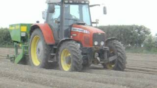Massey Ferguson 6480 With Standen Big Boy Potato Planter At George Thompson Farms