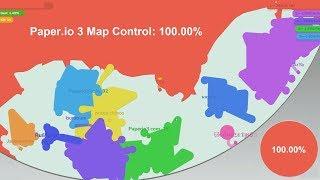 Paper.io 3 Map Control: 100.00% World Record