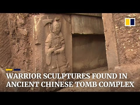 Ancient tombs with warrior relief sculptures found in southwest China