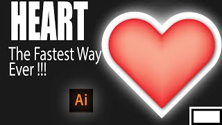illustrator Heart design | How to draw 3d hart in illustrator | illustrator heart shape