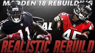 Madden 18 Connected Franchise | Atlanta Falcons Realistic Rebuild | Reaching Down 4 Rounds 2017 Video