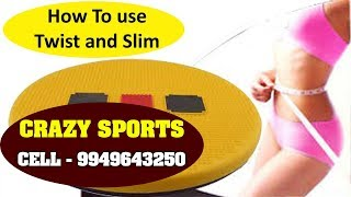 How to use Twist and Slim | Crazy Sports | A S Rao Nagar | zoneadds.com
