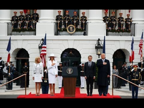 President Donald Trump Holds HISTORIC Arrival Ceremony for the President of France Emmanuel Macron