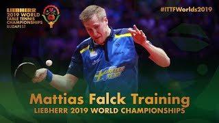 Mattias Falck Training | Liebherr 2019 World Table Tennis Championships