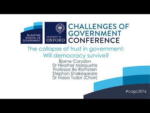 The collapse of trust in government: Will democracy survive?
