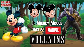 What If Mickey Mouse Was  A MARVEL VILLAIN  How to draw Mickey in Comic Style  How to draw Mickey