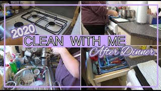 *NEW* AFTER DINNER CLEAN WITH ME 2020 | CLEANING MOTIVATION | STAY AT HOME CARER | KITCHEN CLEANING