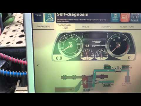 TEXA Heavy Truck Diagnostic Scan Tool On 2007 Freightliner With Detroit Engine