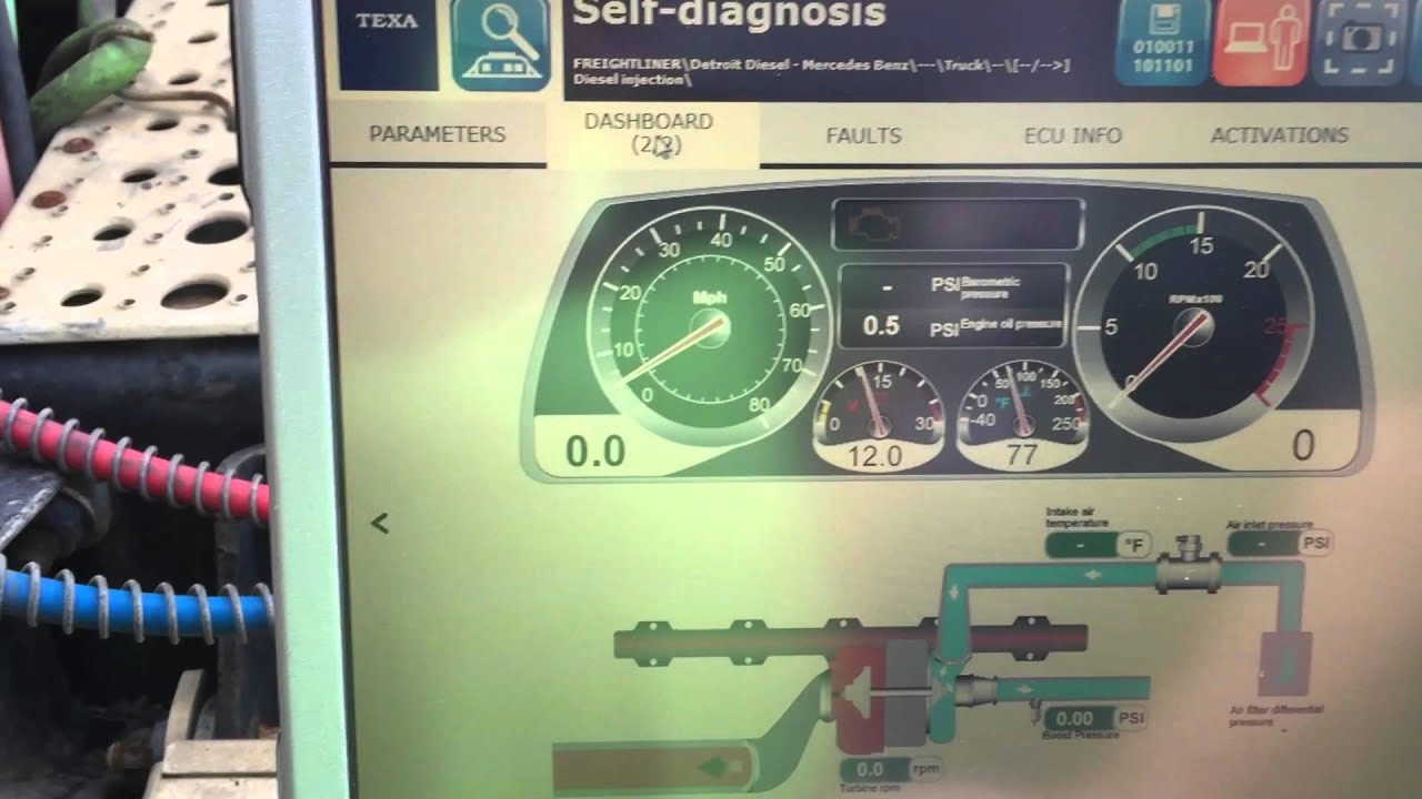 Texa Heavy Truck Diagnostic Scan Tool On 2007 Freightliner With Jake Ke Wiring Diagram Detroit Engine