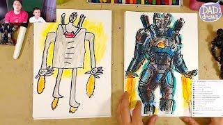 How to draw War Machin / Iron Man