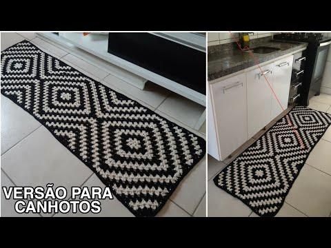 Passadeira Mosaico em Crochê ♡ Versão Para Canhotos