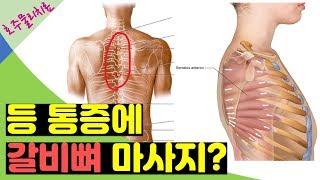 능형근 스트레칭 하지 마세요! 날개뼈 사이 등 통증! …