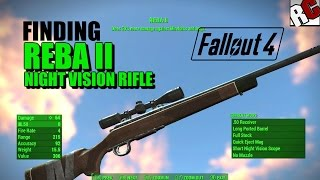 Fallout 4 - Finding REBA 2 Rifle (Night Vision Scope Rifle Location) Best Weapons in Fallout 4