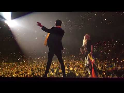 Hayley Kiyoko joins Brendon Urie on stage to perform Girls/Girls/Boys