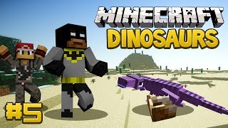 Minecraft Dinosaurs Mod (Fossils and Archaeology) Survival Series, Episode 5 - The T-Rex Enclosure