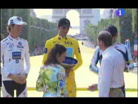 Le Tour de France 2009 Podio general 1. Alberto Contador  2.Andy Schleck  3. Lance Armstrong