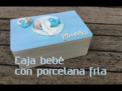 Caja de madera con beb de porcelana fr a paso a paso diy - Como decorar cajas de madera paso a paso ...