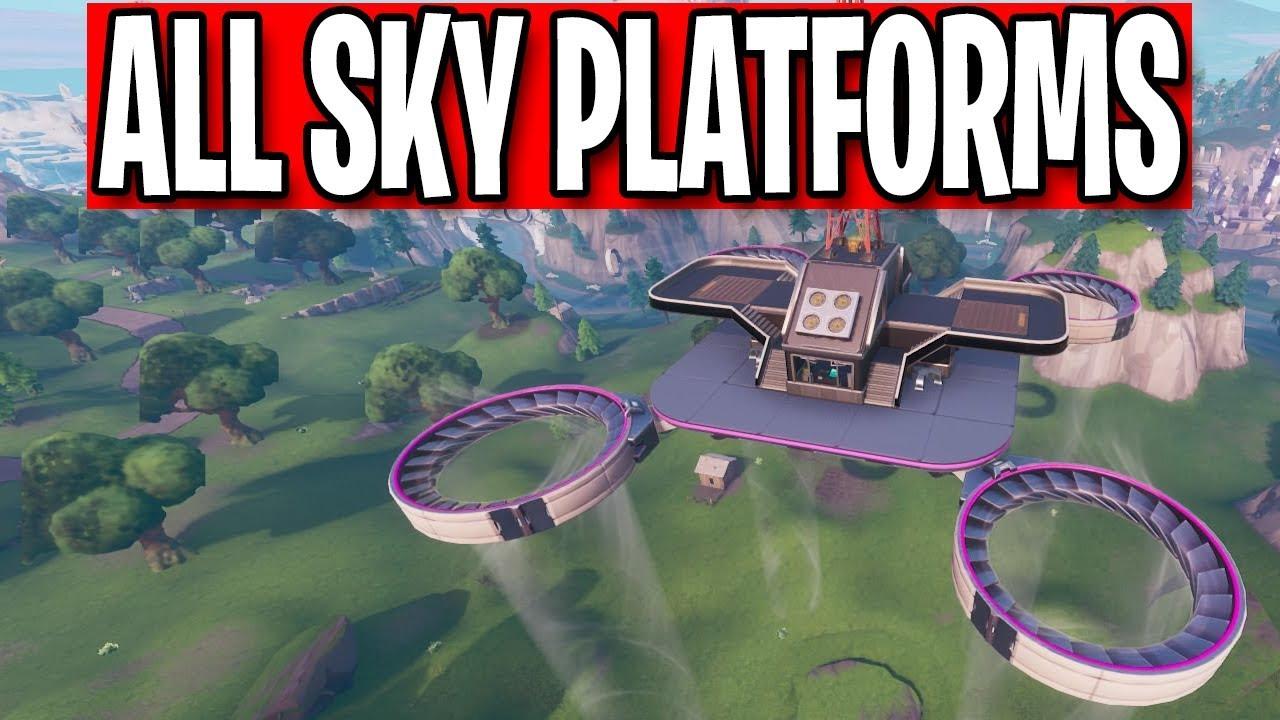 sweettv fortnite season9 - all 7 sky platforms fortnite