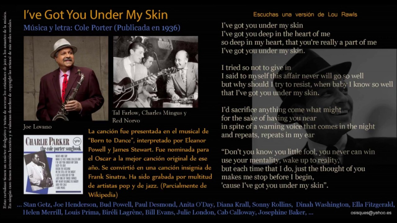 I Ve Got You Under My Skin Cole Porter 1936 Lou Rawls Youtube