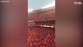 Arrowhead crowd singing in unison goes viral, gives Chiefs Kingdom goosebumps