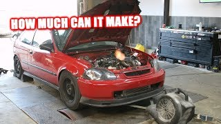 MAXING My Turbo Civic On the Dyno!