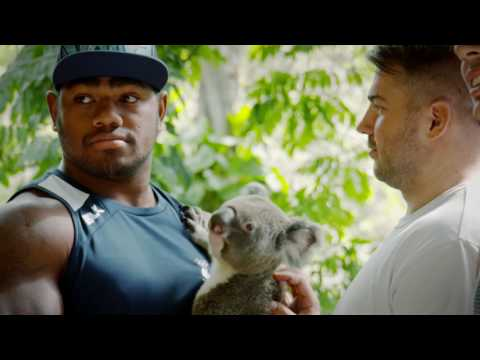 The Toulon Rugby Team go to Currumbin Wildlife Sanctuary