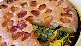 Обалденно вкусный пирог с нектаринами  . Пирог на скорую руку .