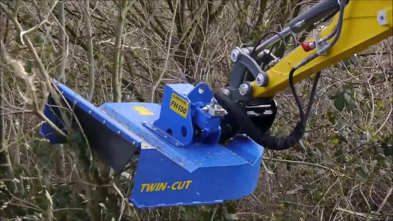Slanetrac FH Mini Excavator Flail Mower - Avant Equipment