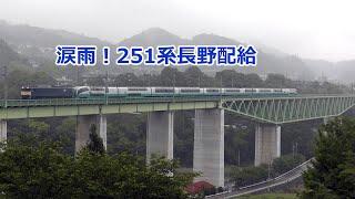 EF64牽引251系配給長野へ 鳥沢鉄橋通過