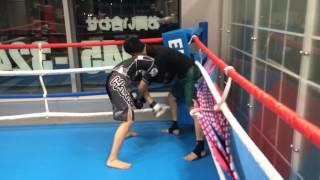中学生総合格闘家 スパーリング