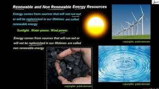 Renewable and non Renewable Energy Resources