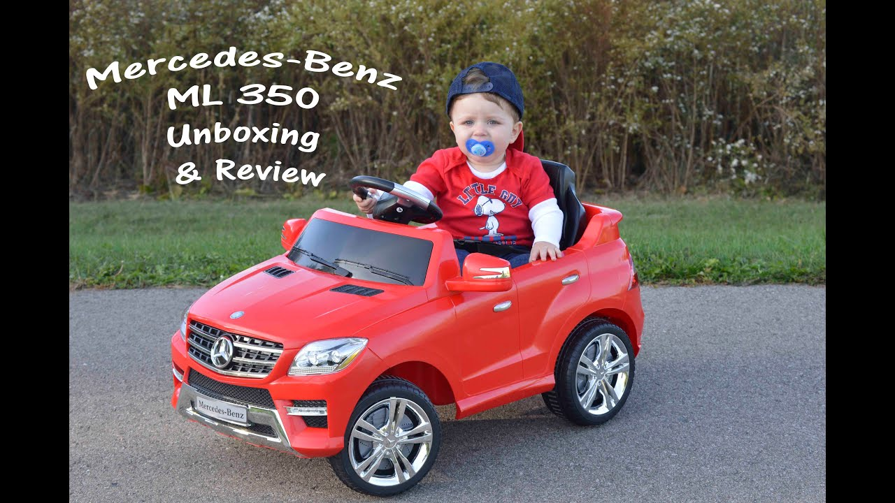 Little Heroes Mercedes Benz ML 350 Ride Unboxing and Toy Review