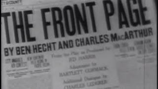 The Front Page (1931) [Comedy]