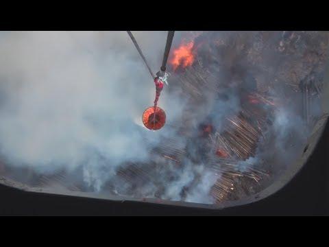 Авиация ликвидирует пожар в Кодинске