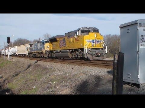 Two Union Pacific Trains in Monroe,La