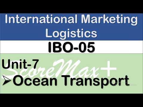 IBO-5 II Unit-7 II Ocean Transport II ScoreMax+