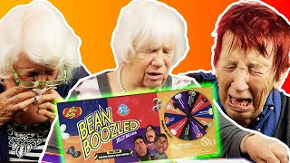 Senioren spielen JELLY BELLY - BEAN BOOZLED Challenge | Oma Geht Steil 🚀