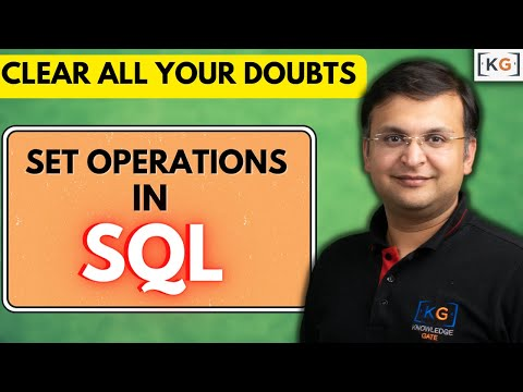 Part 8.5 Set Operation In Sql Query Union Intersecr Except Minus Set Difference In Hindi
