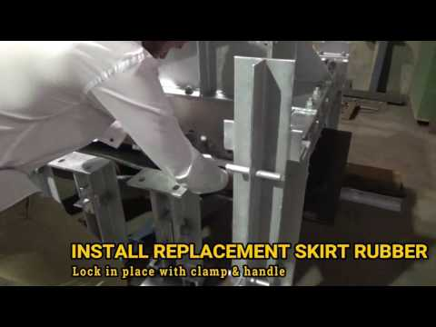 Easy Maintenance Conveyor Skirt Rubber Replacement