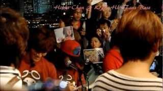 Credit as tagged. Running man singing mission filming at TST, Hong ...