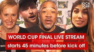 Croatia vs. France | 🔴 Live Stream | The World Cup Final 2018 Show | 45 minutes before kick off