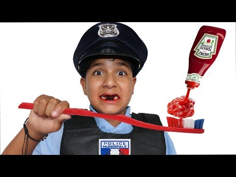 Kids Pretend Play With Police Costume,videos for kids
