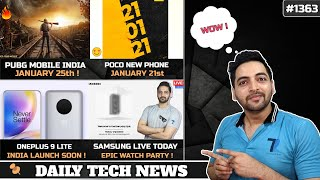 PUBG Mobile India Jan 25,POCO Jan 21,Oneplus 9 Lite India Launch,160Hz Display Phone,Samsung Live