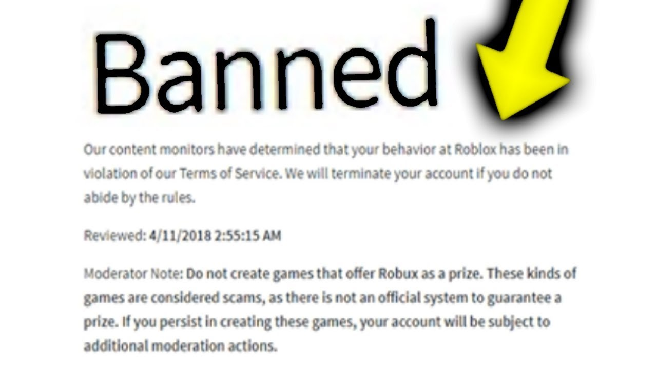 Roblox Ban Rules I Got Banned From Roblox Youtube