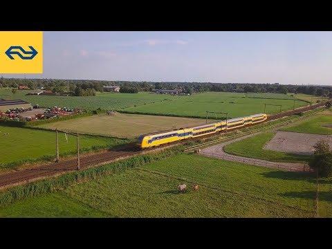 De trein in vogelvlucht - dronebeelden treinen rond Nijmegen