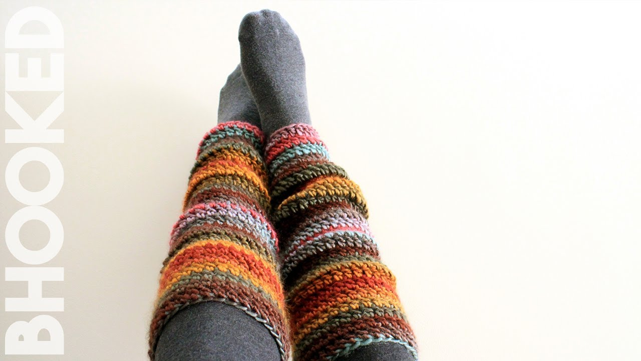 Beginner Crochet Leg Warmers - YouTube