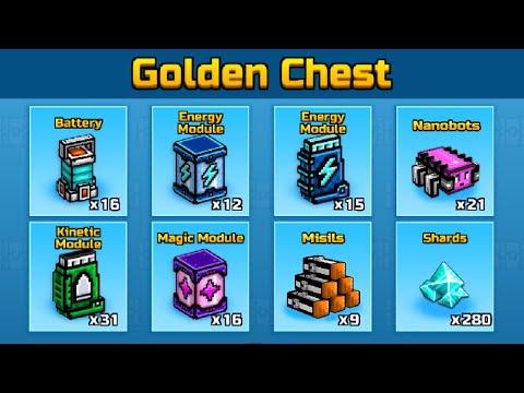 OPENING 3 GOLDEN CHEST! A M A Z I N G | +360 Modules (+1000 Gems) | Pixel Gun 3D